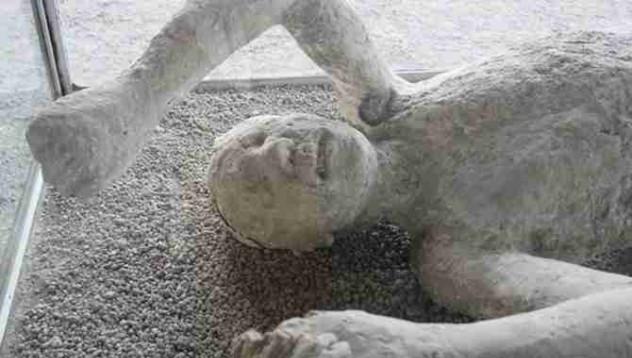 Последните щастливи мигове на жител от Помпей