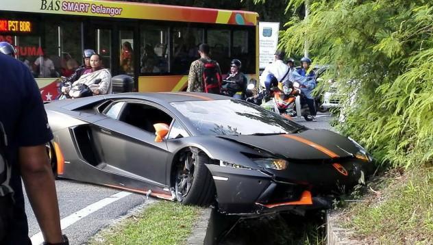 Lamborghini пострада в Малайзия