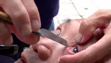 Китайски бръснар реже и мигли