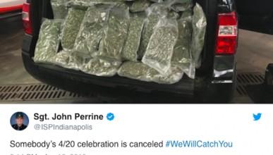 Колко марихуана може да се събере в джип