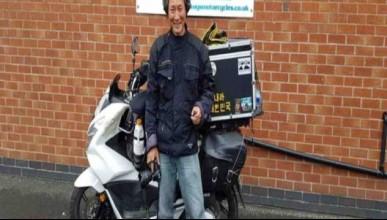 Той посети 37 страни с мотора си