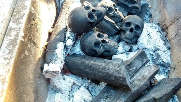 Черепни въглища за барбекюто