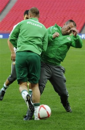 България тренира на Уембли