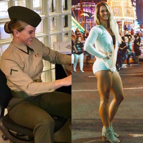 Жени в униформи и извън тях