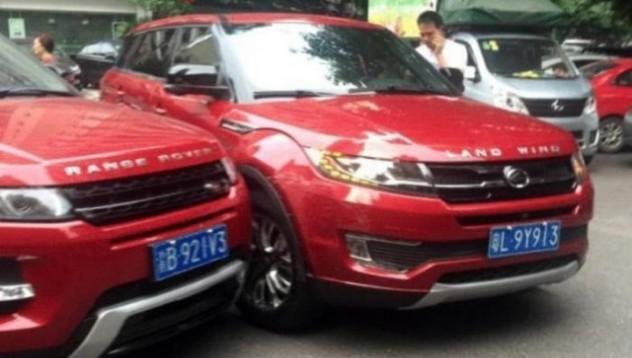 Четири китайски коли, пълни копия на известни автомобилни марки